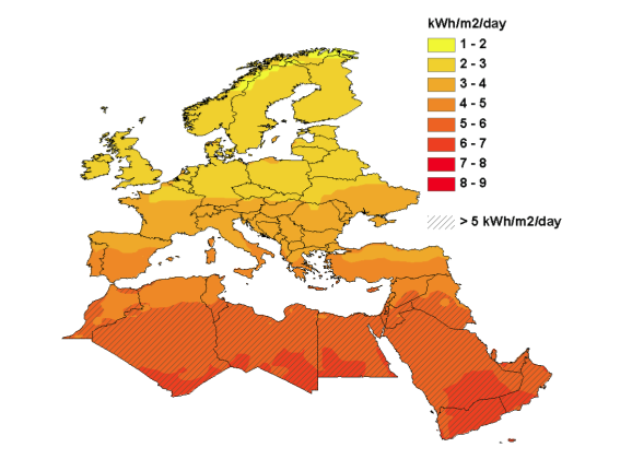 deserts in europe map Signs From Earth Desert Power For Europe deserts in europe map